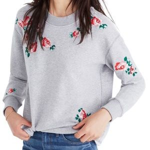 Madewell Floral embroidered sweater S